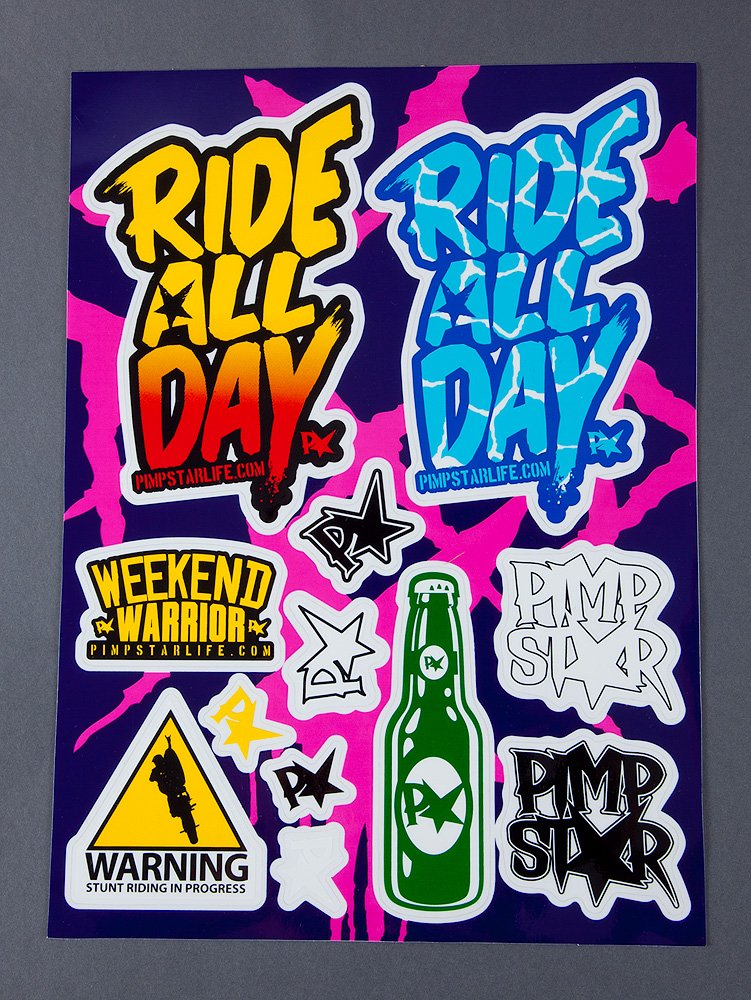 Pimpstar Stickersheet All Day Edition