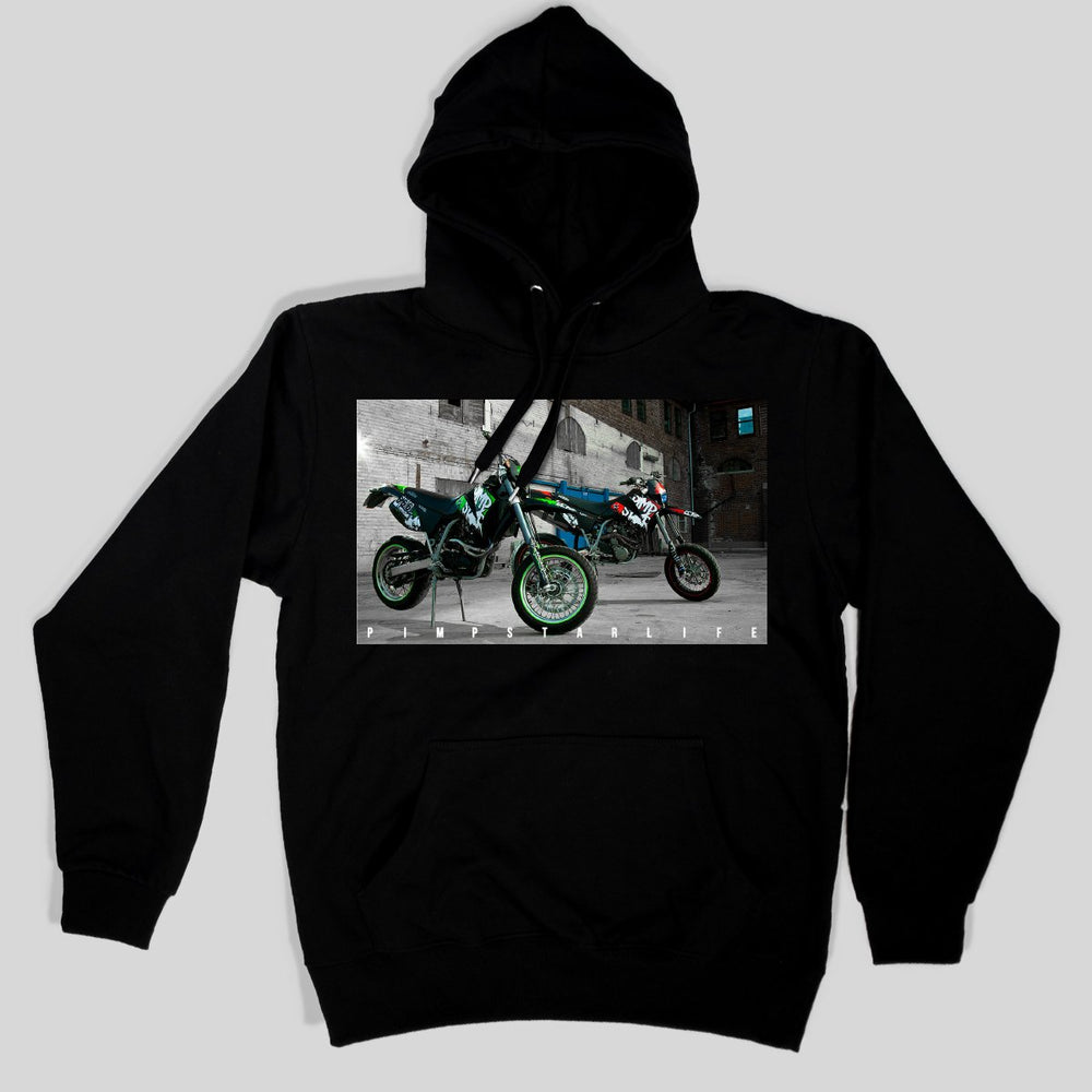 Pimpstar Signature - Two Bikes | Nonzip Hoodie, Black