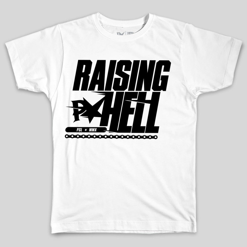 Pimpstar Raising Hell | T-shirt, White