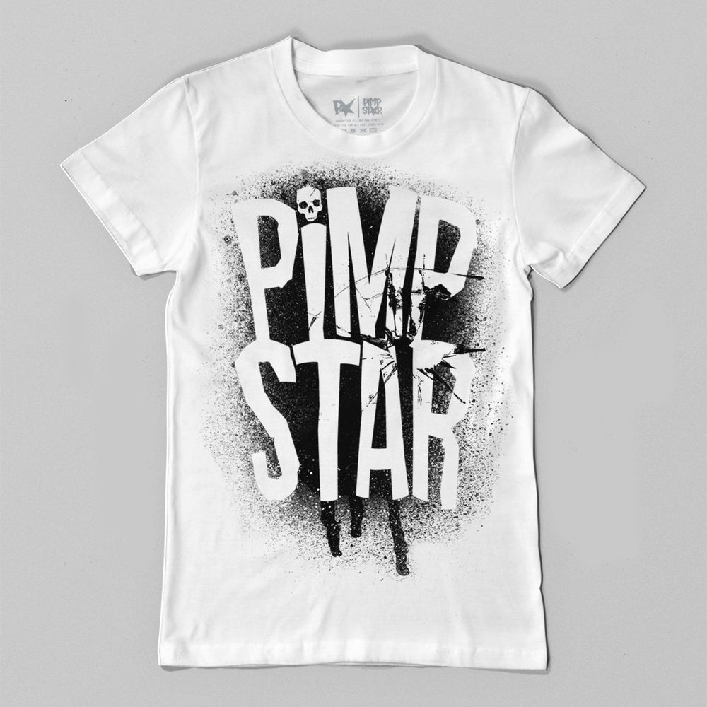 Pimpstar Bones And Ink | T-shirt, White