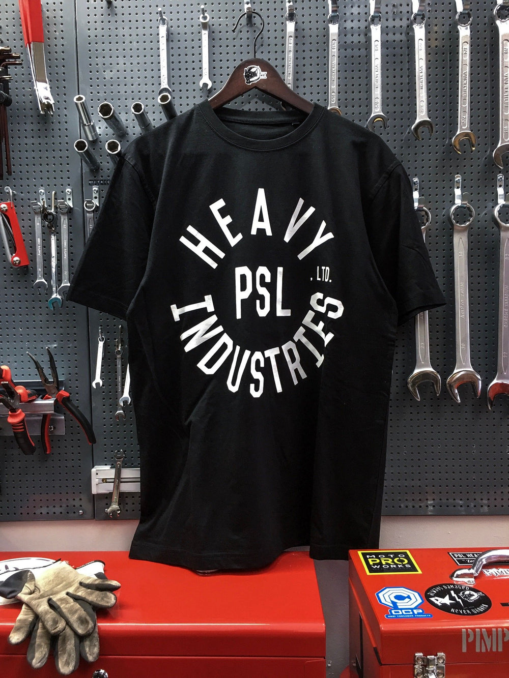 PSL Heavy Ind - Garage Tee (Black) - No back print