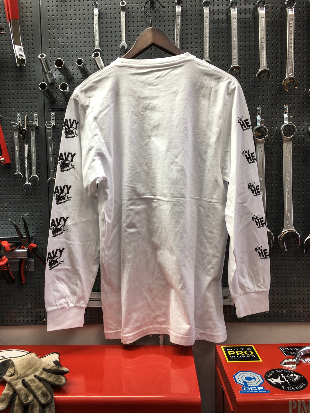 PSL Heavy Ind -Zero Days Long Sleeve (White) - No back print