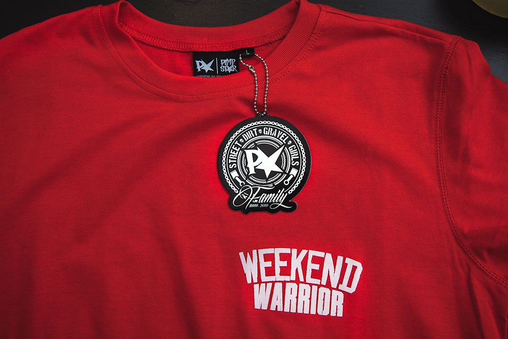 Tee Weekend Warrior Red | Slim Fit