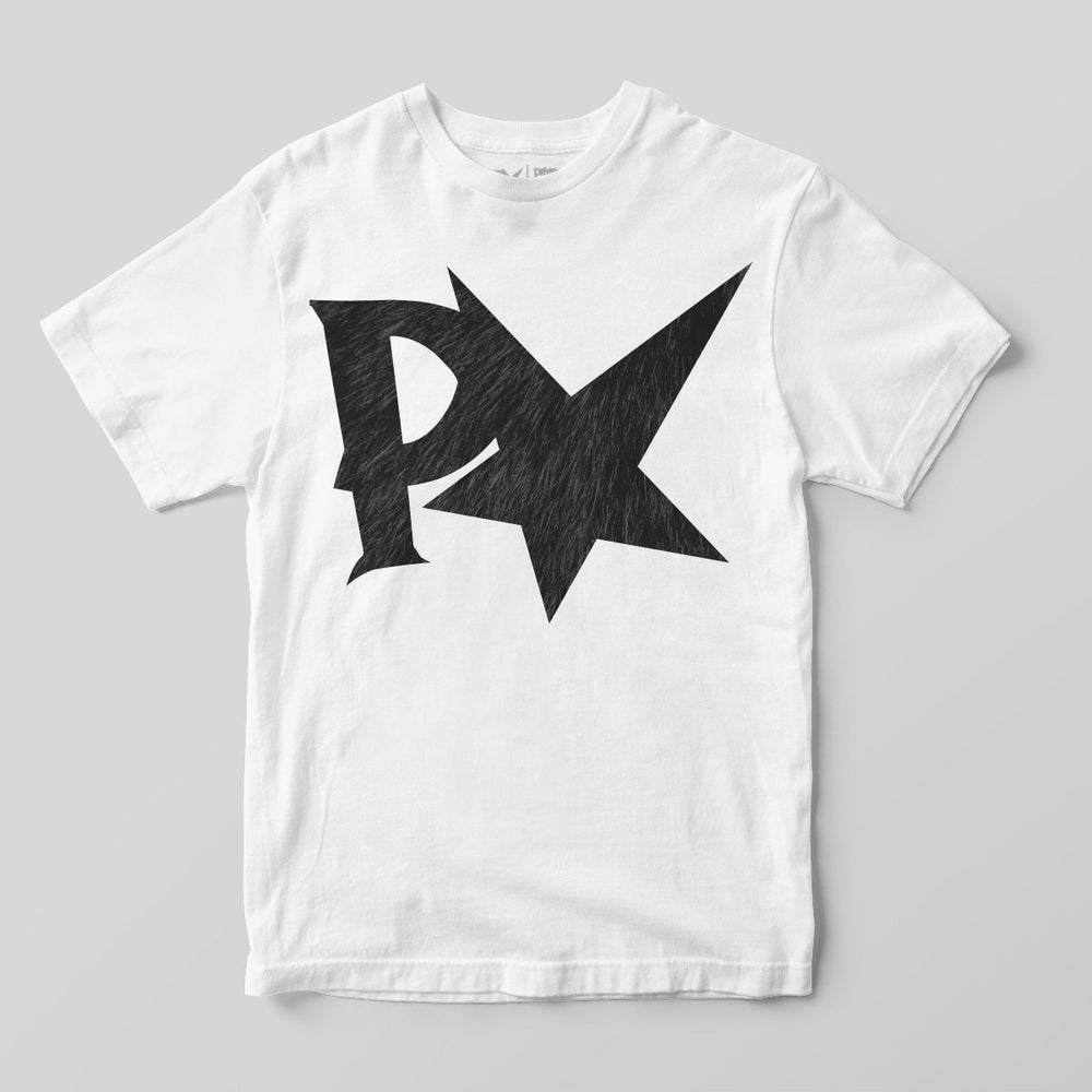 Pimpstar Big Logo Fur | T-shirt, White