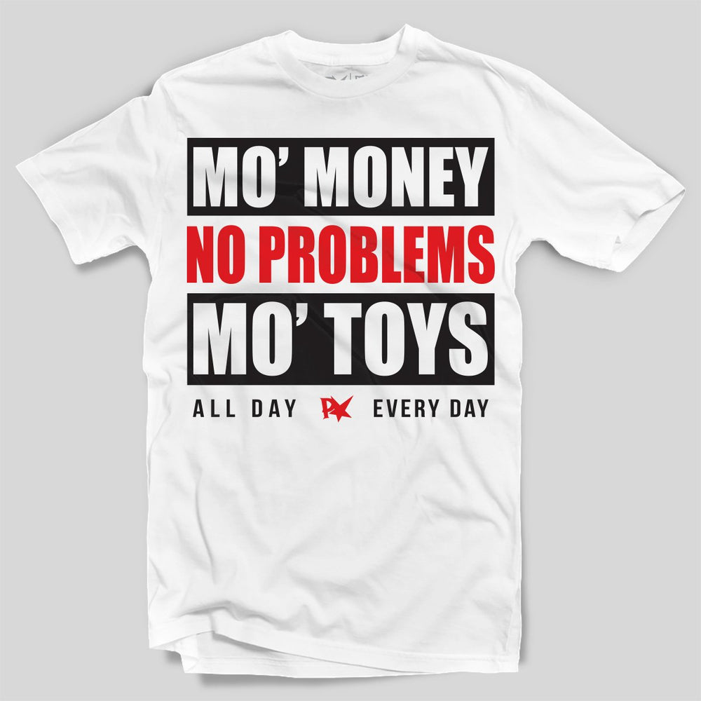 Pimpstar Mo Money Mo Toys | T-shirt, White