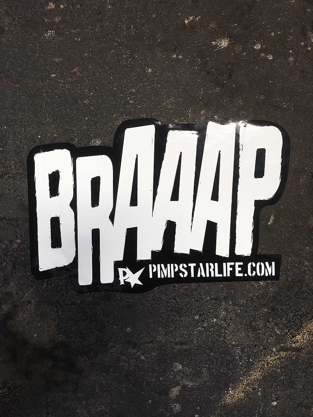 BRAAAP Sticker 2-pack (20cm)