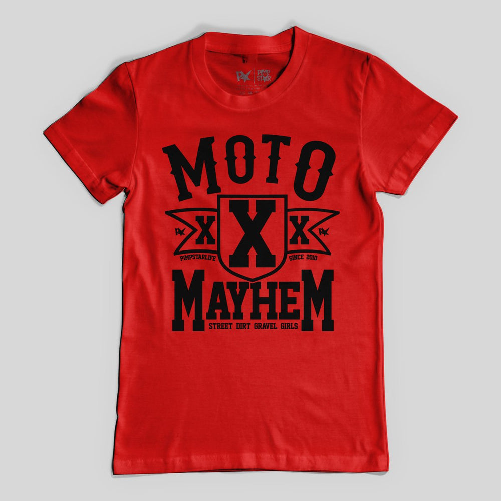 Pimpstar Moto Mayhem | T-shirt, Red