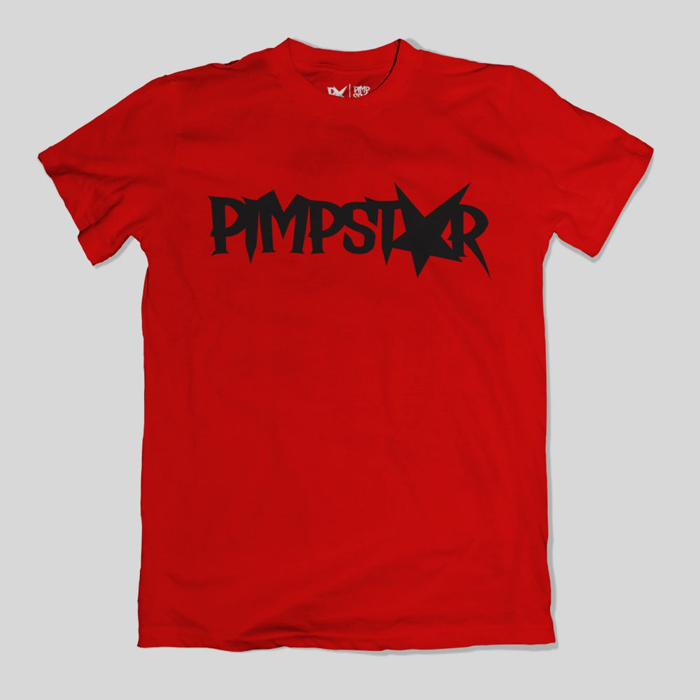 Pimpstar One Row | T-shirt, Red