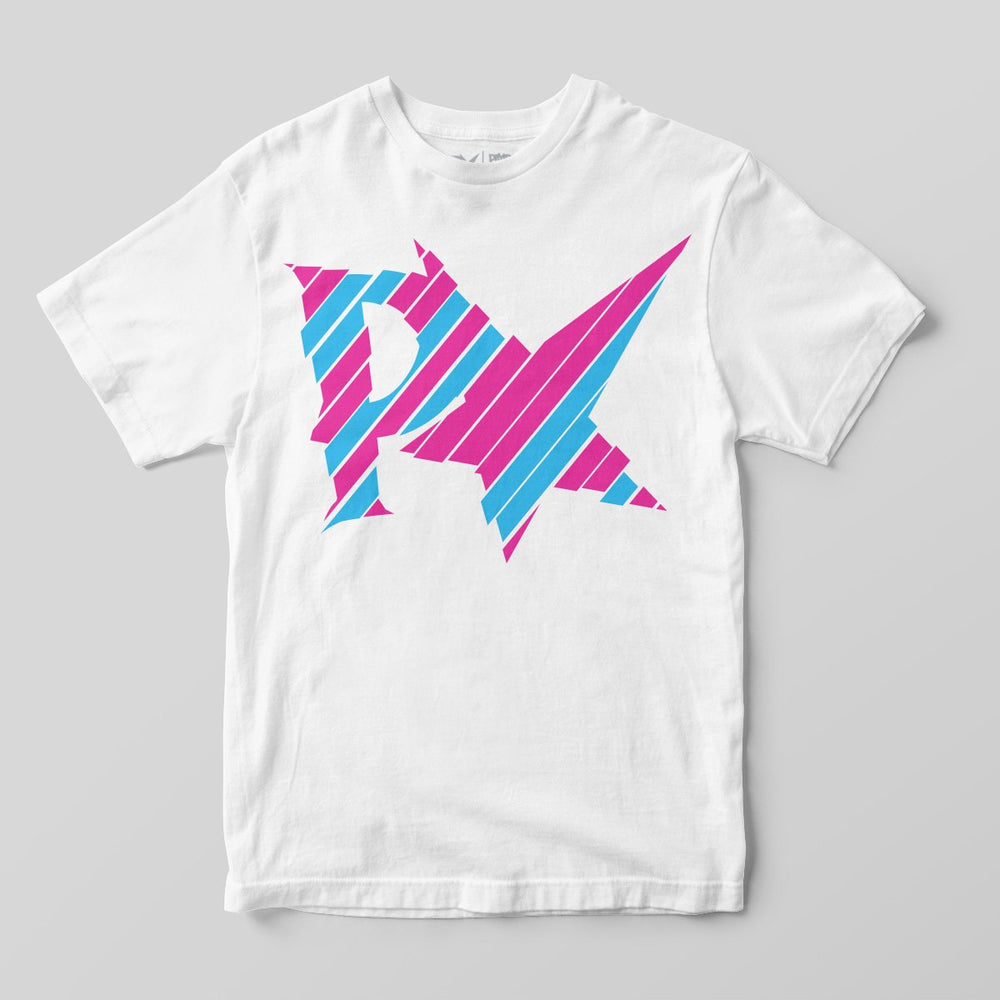 Pimpstar Big Logo Sliced | T-shirt, White
