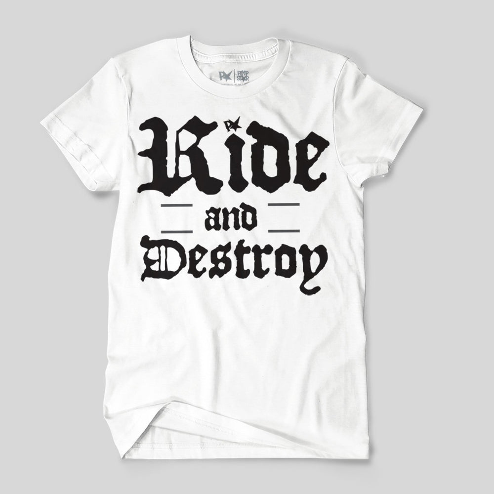 Pimpstar Ride And Destroy | T-shirt, White