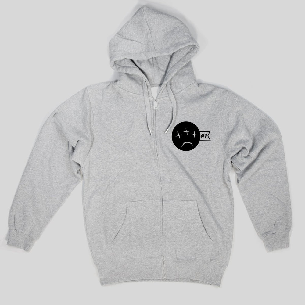 PSL Heavy Ind - All Eyes Blind | Zip Hoodie, Grey