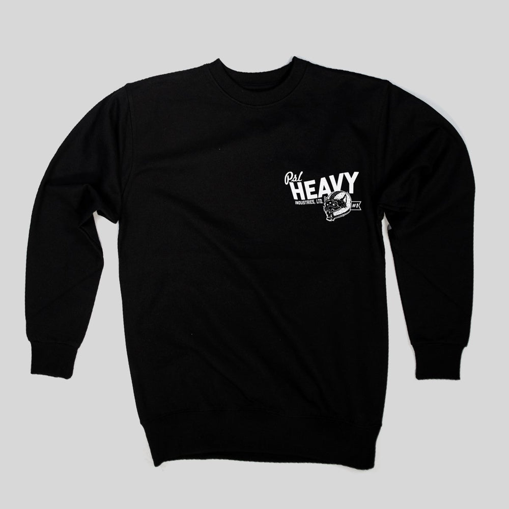 PSL Heavy Ind - Wolf chest| Crewneck, Black