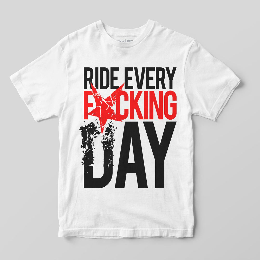 Pimpstar Ride Every F*cking Day | T-shirt, White