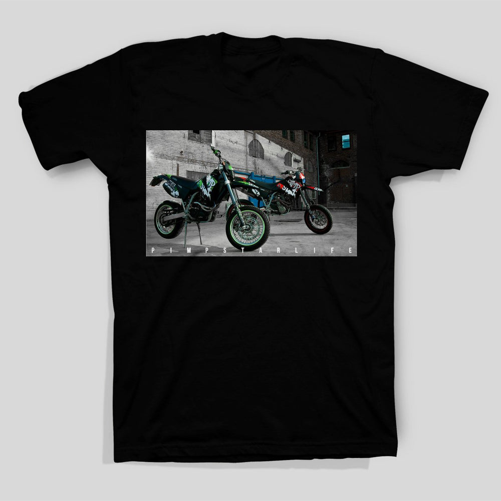 Pimpstar Signature - Two bikes | T-shirt, Black