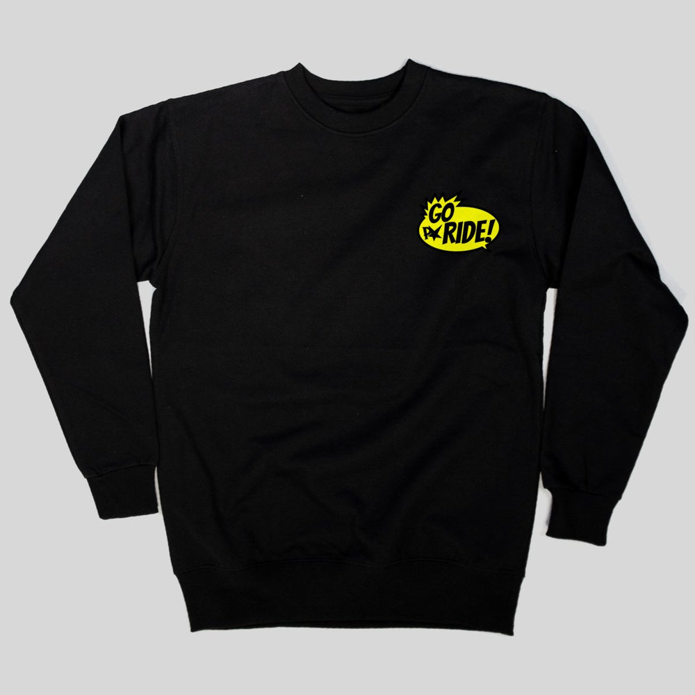 Pimpstar - Go Ride | Crewneck, Black