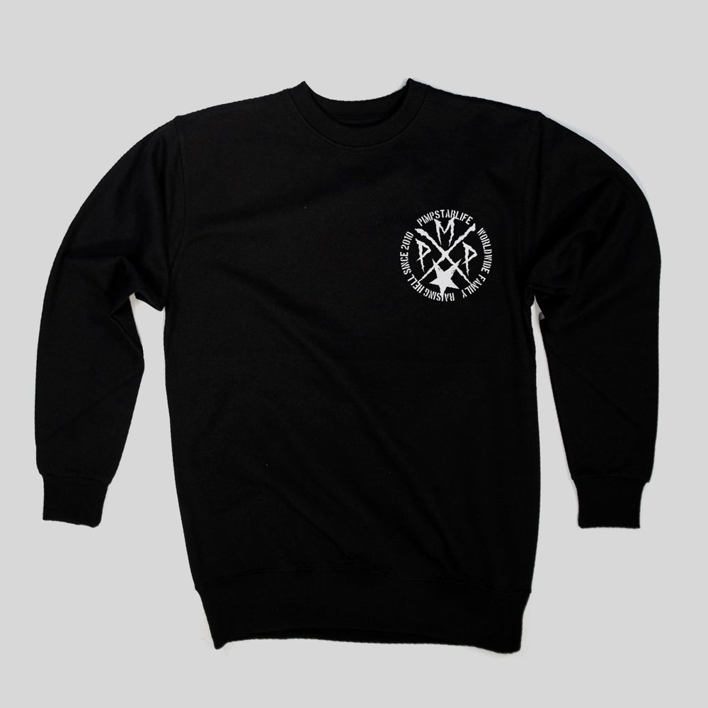 Pimpstar - X World | Crewneck, Black