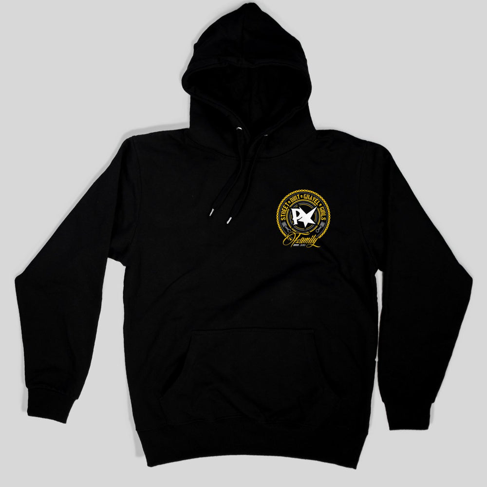 Pimpstar Family S.A | Non-zip Hoodie, Black
