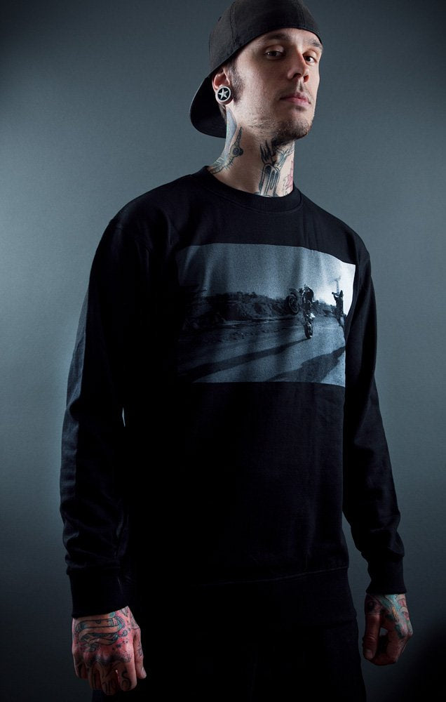 Pimpstar Signature First Day | Crewneck, Black