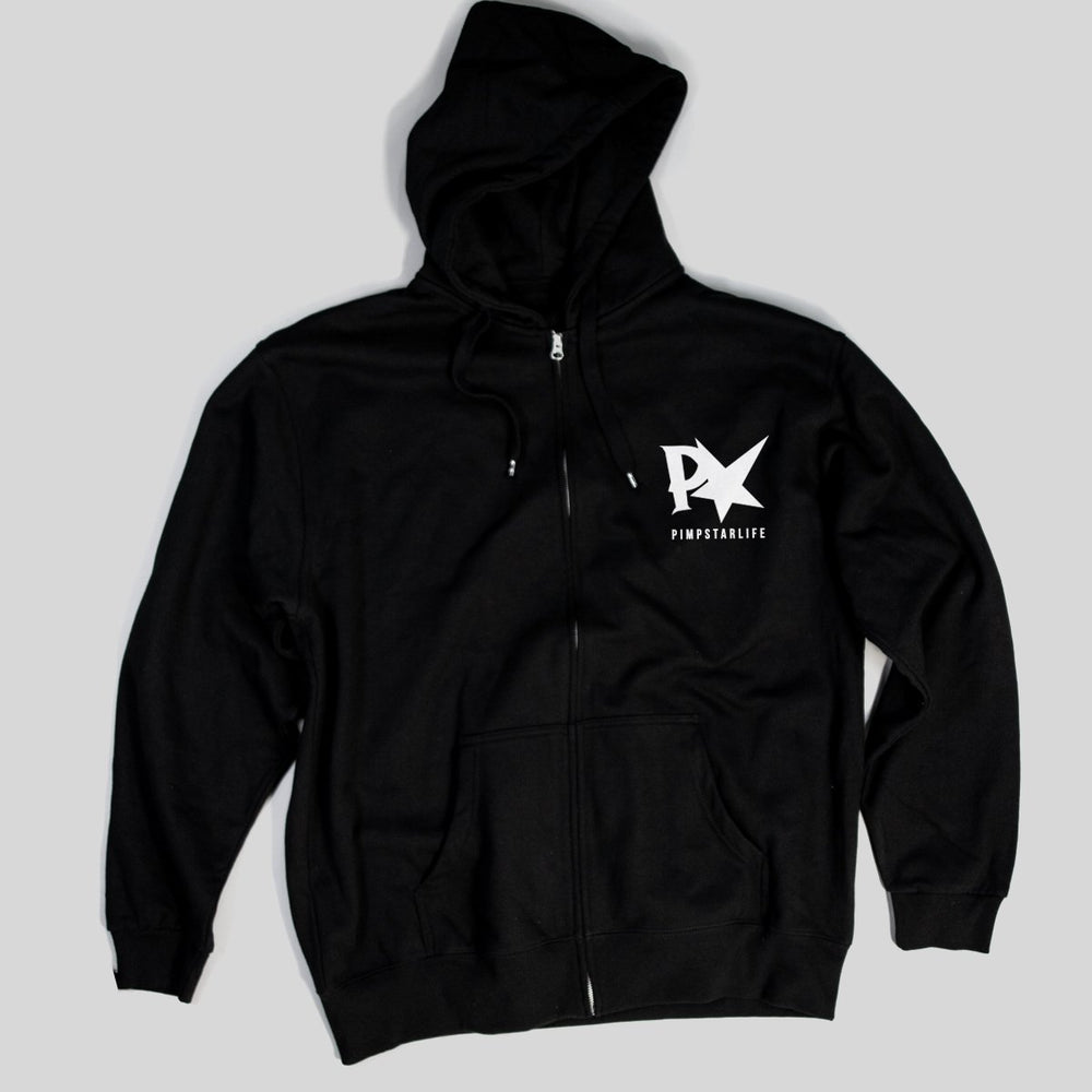 Pimpstar Ride And Destroy | Zip Hoodie, Black