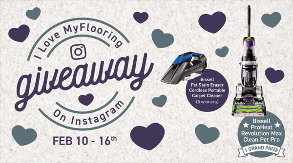 MyFlooring Instagram Giveaway: Bissell Carpet Cleaners