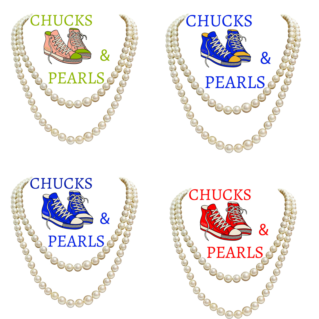 Chucks & Pearls T-shirts