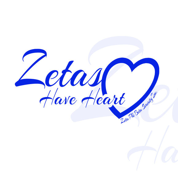 Zetas Have Heart Apparel