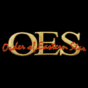 OES Signature Gold/Red Emblem W/Heat Seal Backing- 1 3/8""