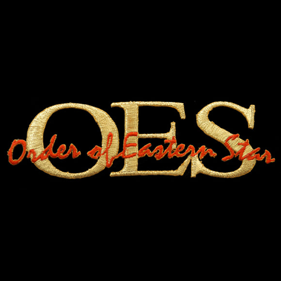 OES Signature Gold/Red Emblem W/Heat Seal Backing- 1 3/8