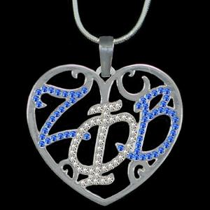 Zeta Phi Beta Crystal Necklace