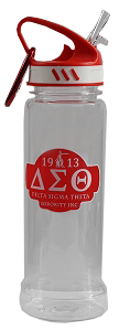Delta Sigma Theta Eastman Tritan 700Ml Water Bottle w/ Carabiner Hook