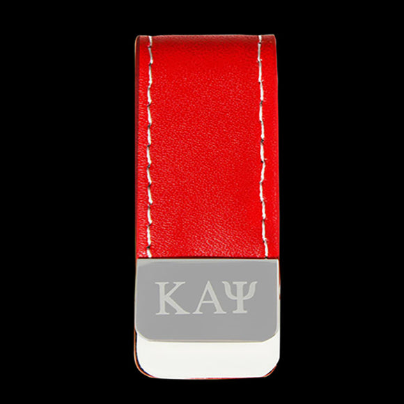 KAP Leather Money Clip W/Laser Engraved Logo