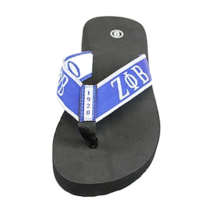 Zeta Phi Beta Flip Flops In Draw String Shoe Bag