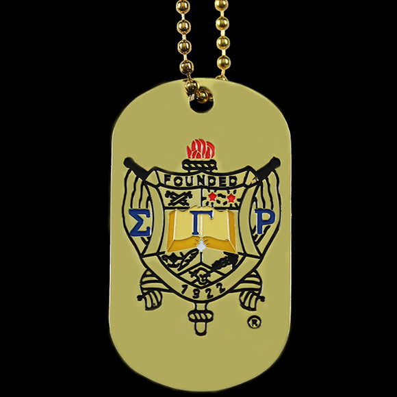 SGRHO Gold Double-Sided Dogtag W/Chain