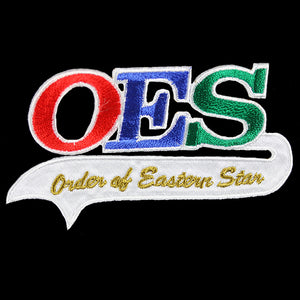 "OES 2 1/4""T Tail Emblem W/Heat Seal Backing"