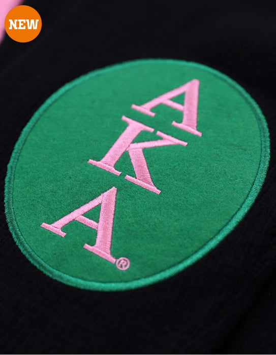 Alpha Kappa Alpha Elbow Patch Cardigan