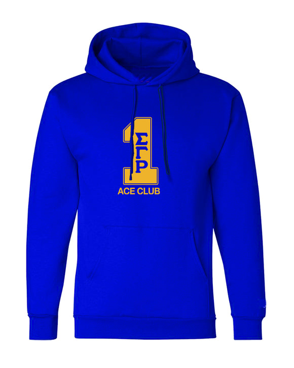 Sigma Gamma Rho True Royal Line Number Hoodies