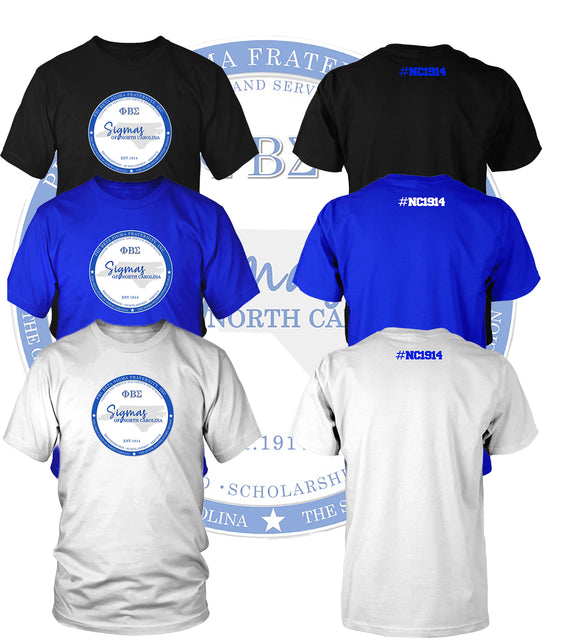 2020 North Carolina Phi Beta Sigma Fundraiser T-Shirt