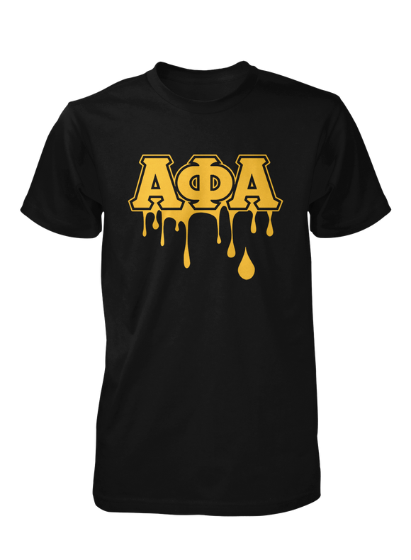 Alpha Phi Alpha Crew Neck Drip Collection T-Shirts