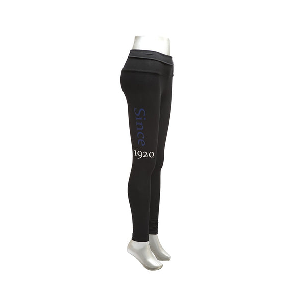 Zeta Phi Beta Black Yoga Leggings
