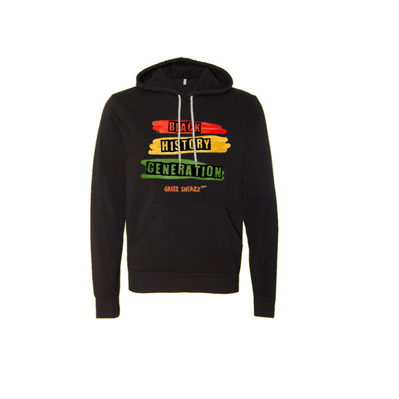Greek Sneakz Black History Generation Unisex Fleece Pullover Hoodie