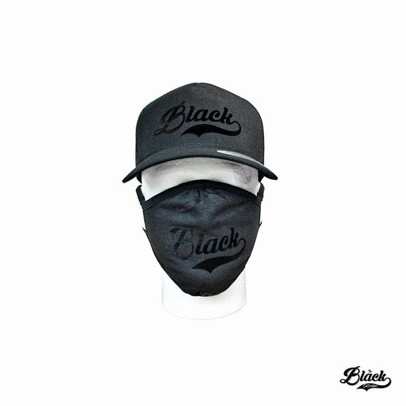 Black on Black Cap and Mask Set