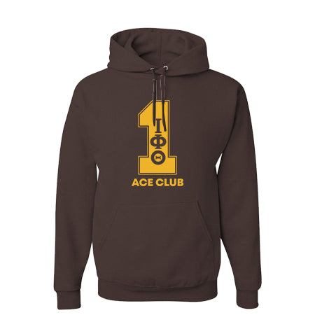Iota Phi Theta Brown Line Number Hoodies