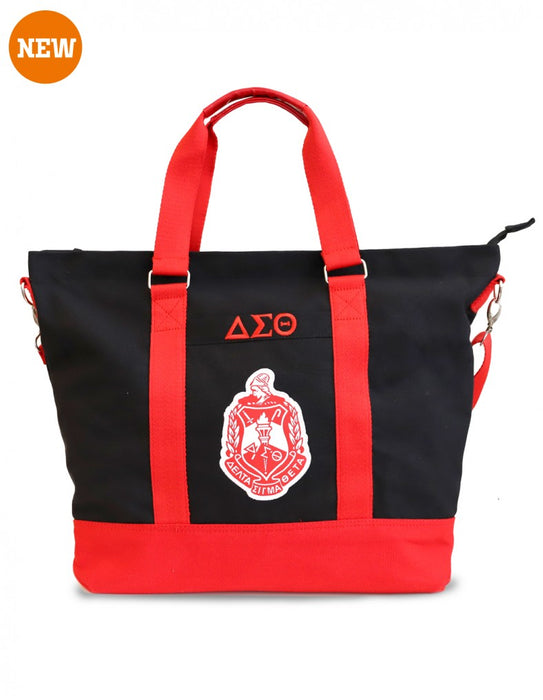 Delta Sigma Theta Canvas Tote Bag