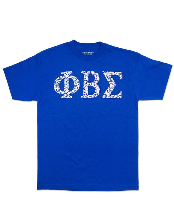 PHI BETA SIGMA GRAPHIC GREEK LETTER PATTERN TEE