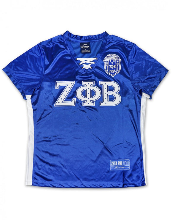 Zeta Phi Beta String Lace Football Jersey