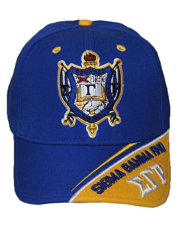 SIGMA GAMMA RHO STRIPED SHIELD CAP