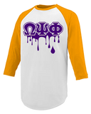 Omega Psi Phi Drip Performance Raglan T-shirt