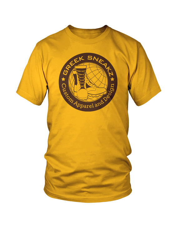 Greek Sneakz Official Logo Gold Design T-Shirt