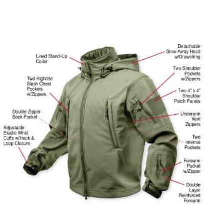 Greek Sneakz Special Ops Tactical Soft Shell Jacket