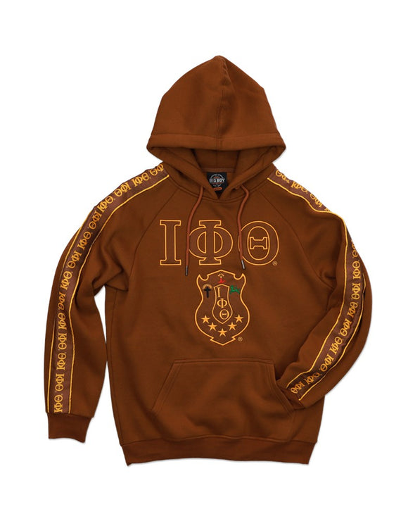 Iota Phi Theta Brown Greek Letter Pattern Hoodie
